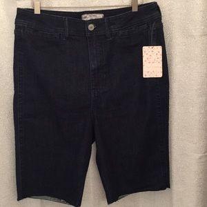 Free People Denim Bermuda Shorts